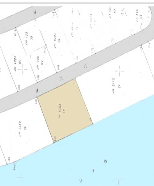 Terrain Lotissement S.T.T.I – Lot 7U.T.M.1 Zone Cap Gammarth