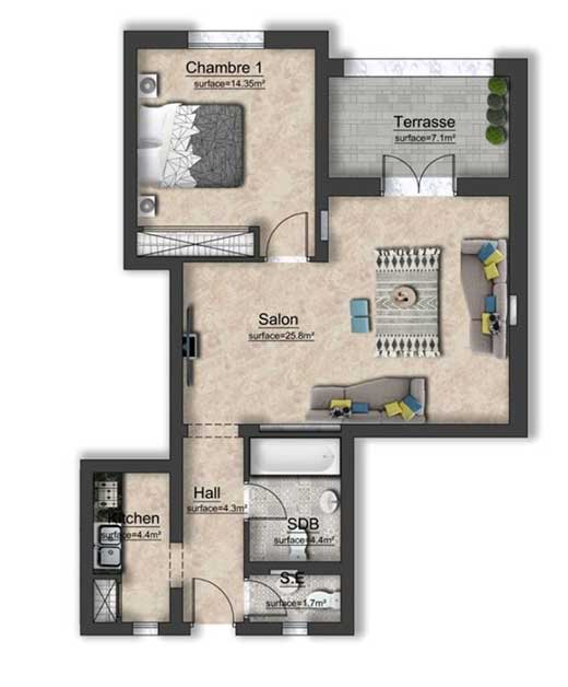 Appartement Kantaoui 244