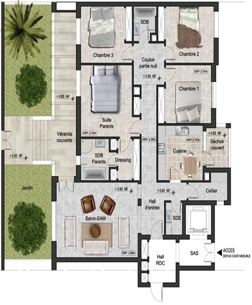 Plan Appartement sidi daoued