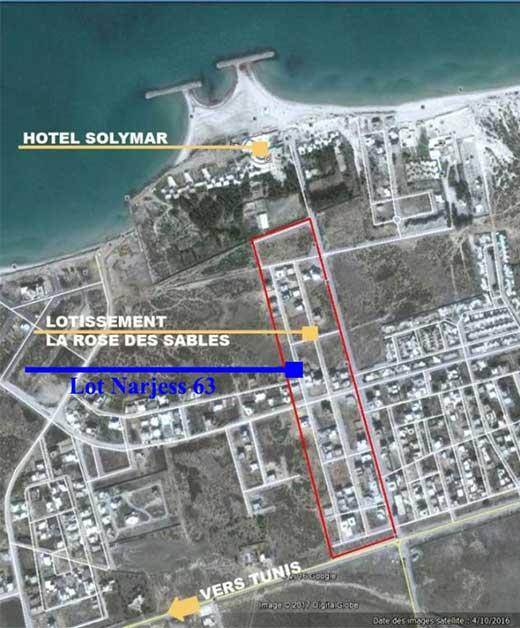 Terrain Yassmin 14 -Soliman Plage