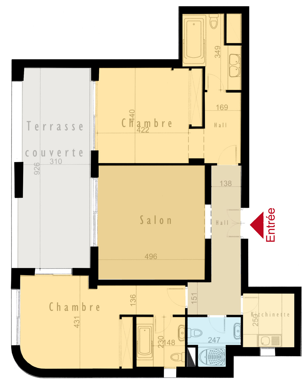 Plan appartement Comert 12