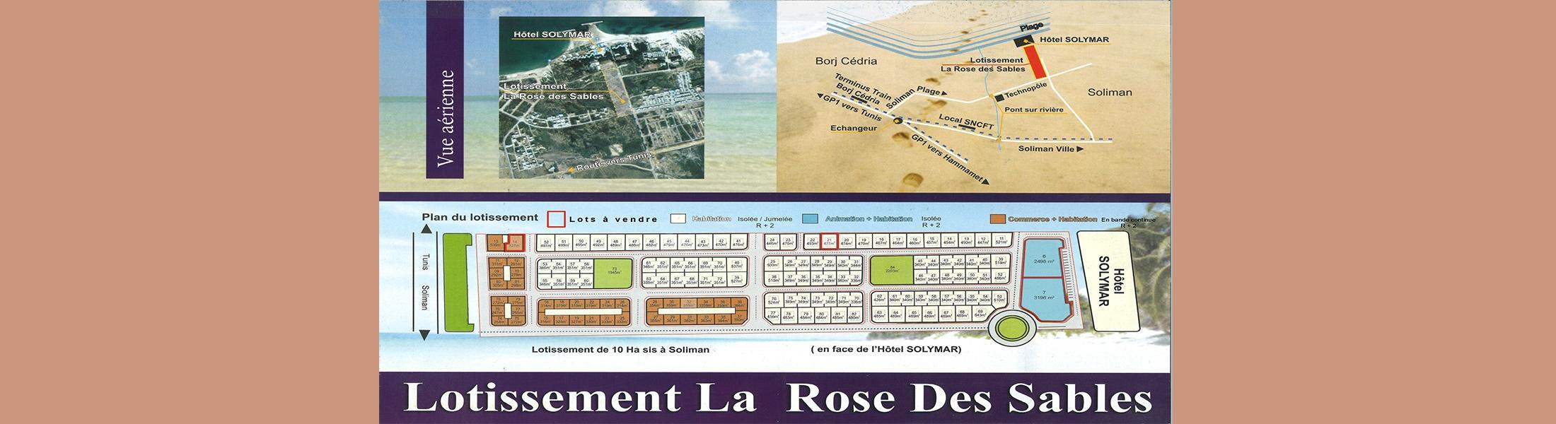 عدد (04) مقاسم مهيئة صالحة للبناء بشاطئ سليمان