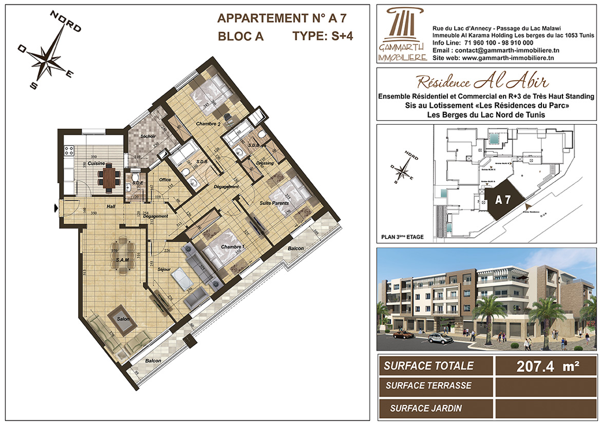 Plan de l'appartement A7 Al Abir