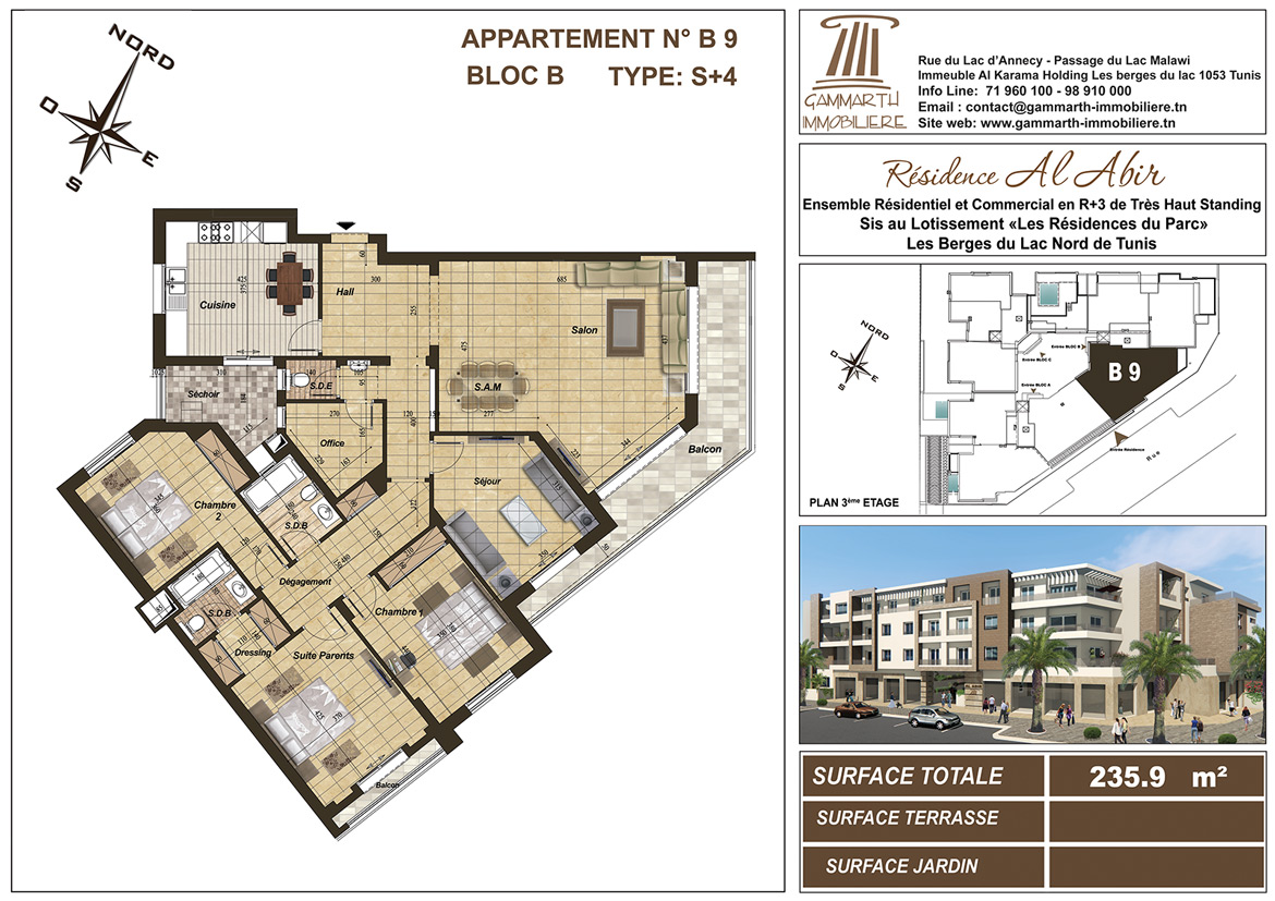 Plan de l'appartement B9 Al Abir