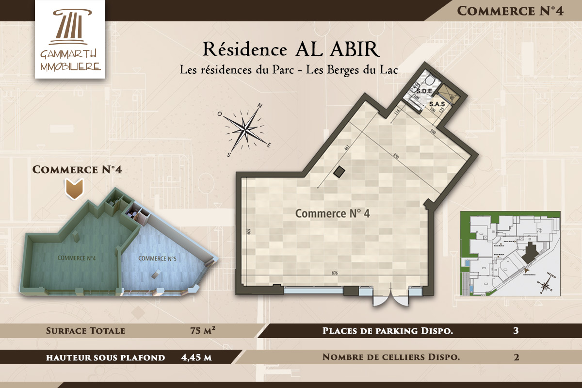 Plan du local commercial N°4 Al Abir