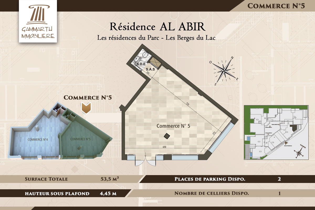 Plan du local commercial N°5 Al Abir