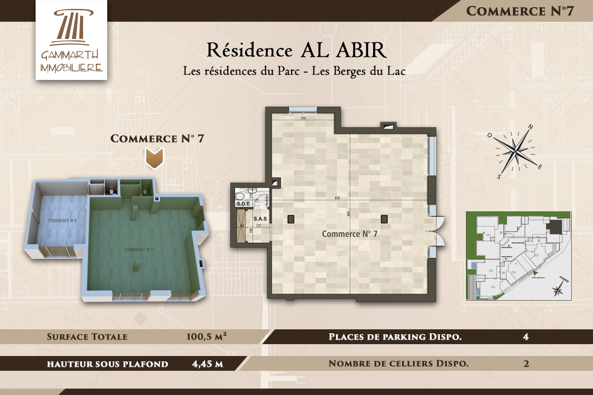Plan du local commercial N°7 Al Abir